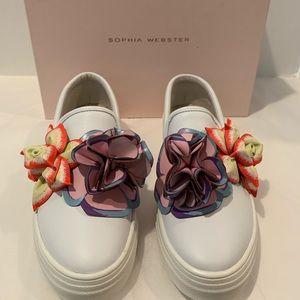 NIB Sophia Webster white Lilico Sneakers Sz 40.5